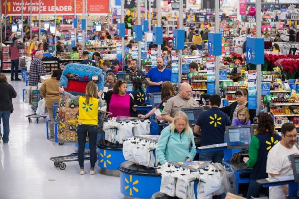 Black Friday events in Kansas City - Walmart filled with shoppers