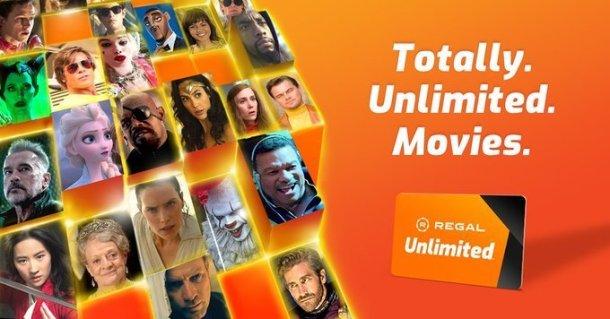 Regal Cinema movie subscription pass ad