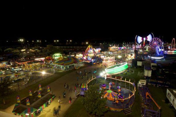 Kansas State Fair - Midway at night
