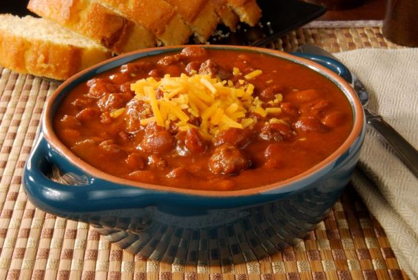 Kansas City food deal - bowl of chili sprinkled with cheese