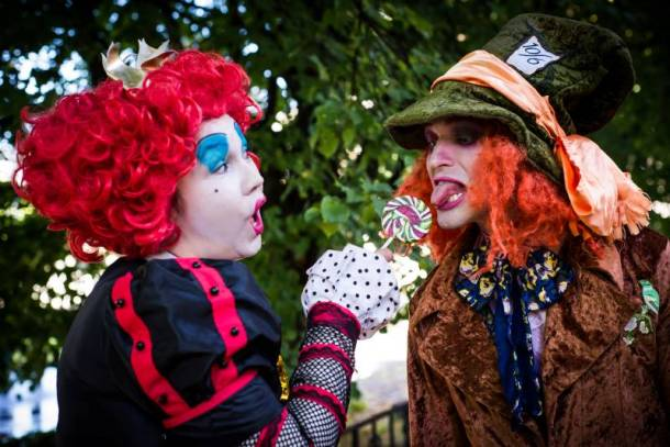 Kansas City Halloween Events for Adults - two clowns