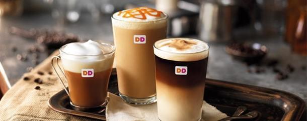 Dunkin' Donuts Latte, Cappuccino and Americano