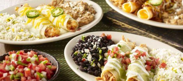 Kansas City food deals - plate of On the Border enchiladas