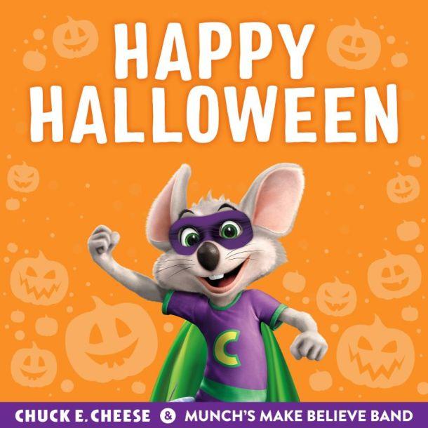 Kansas City Restaurant Deals - Check E Cheese Halloween poster