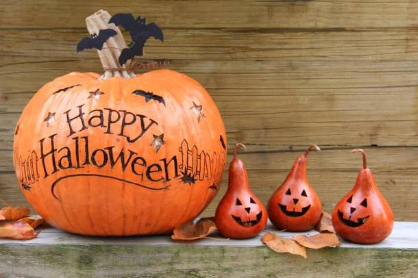 Kansas City Halloween events for kids - pumpkin and gourds on a table