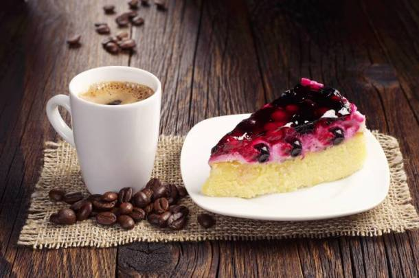 Valentine's Day events in Kansas City - slice of pie with a cup of coffee