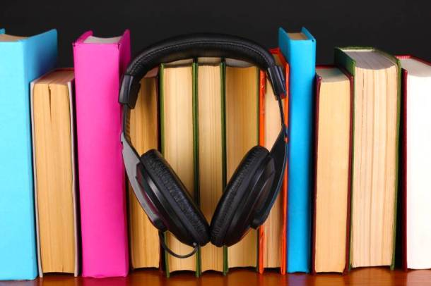 Free audiobooks from Audible - books with headphones