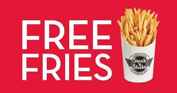 Free fries from Steak 'n Shake