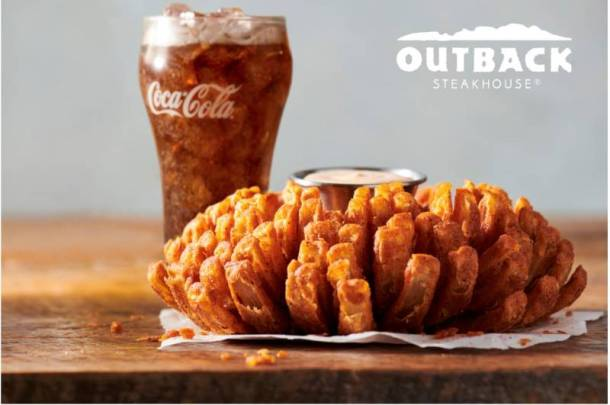 Outback Steakhouse Veterans Day deal - Bloomin' Onion and Coke