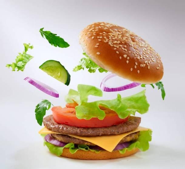 Hamburger with toppings - Kansas City Burger Week