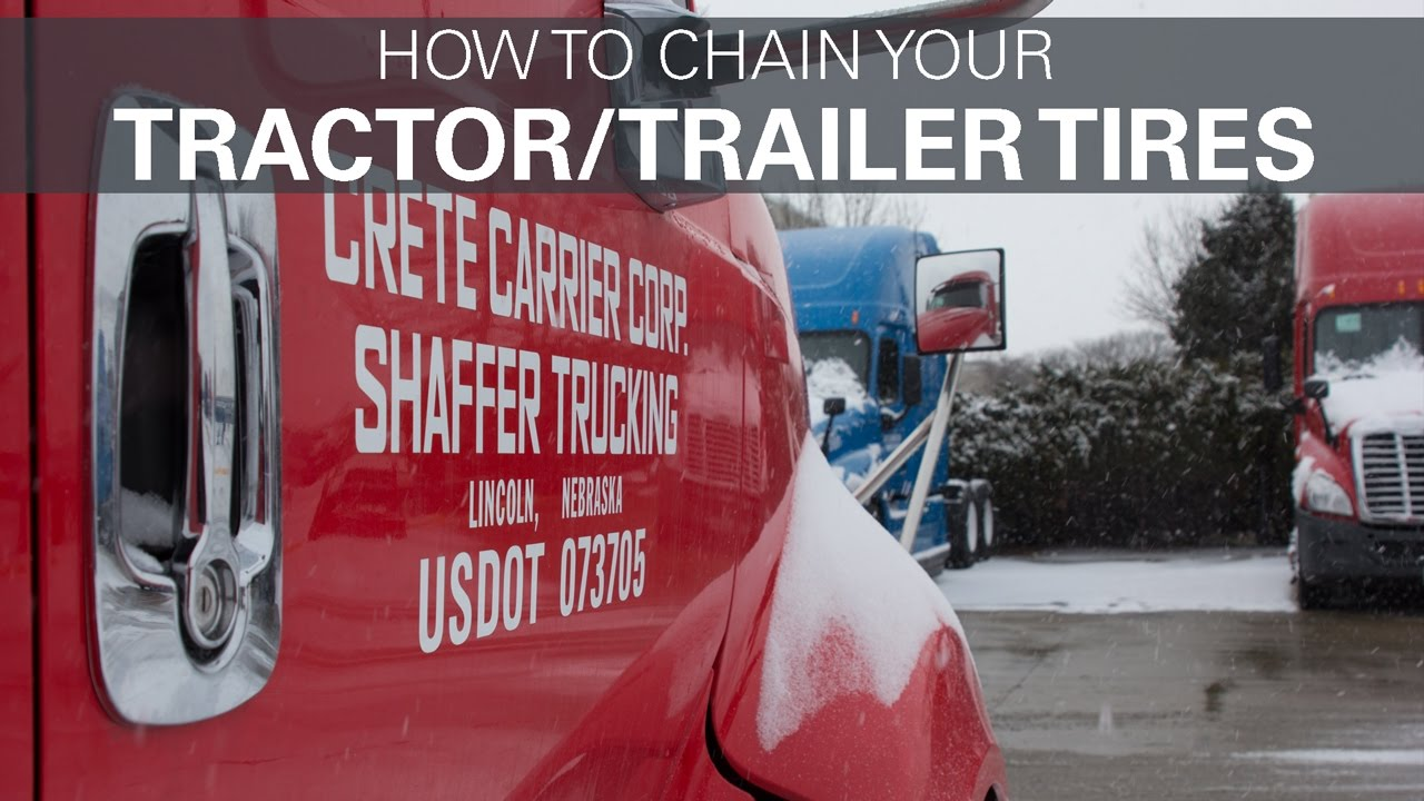 How To Chain Your Tractor And Trailer Tires