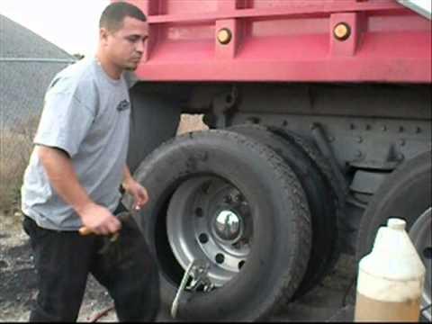 Outside Semi Tire Repair