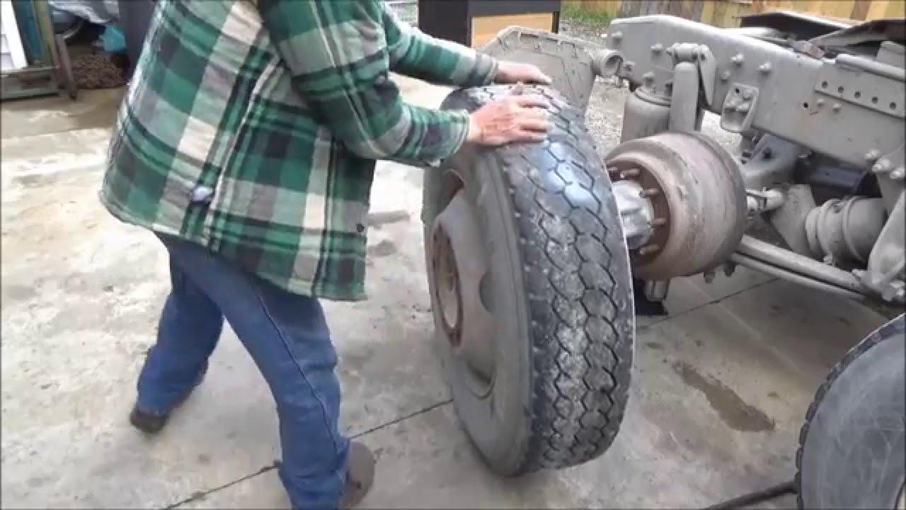 truck tire repair 4. find leak, break down, patch, mount, check.
