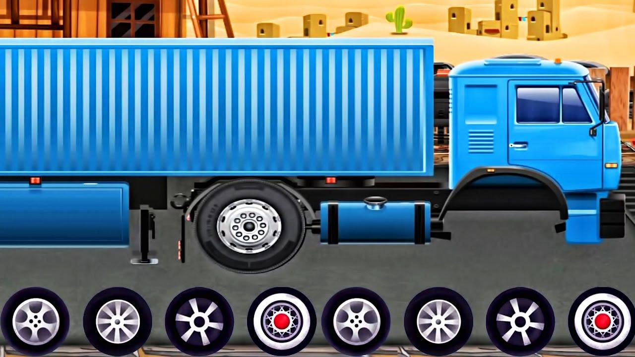 Cars & Truck for Children Truck Repair Mechanic Shop - Evacuator Videos for KIDS