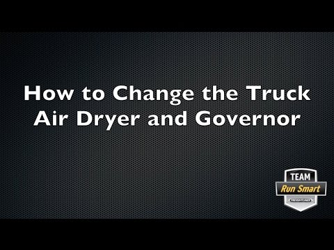 How to Change the Truck Air Dryer and Governor