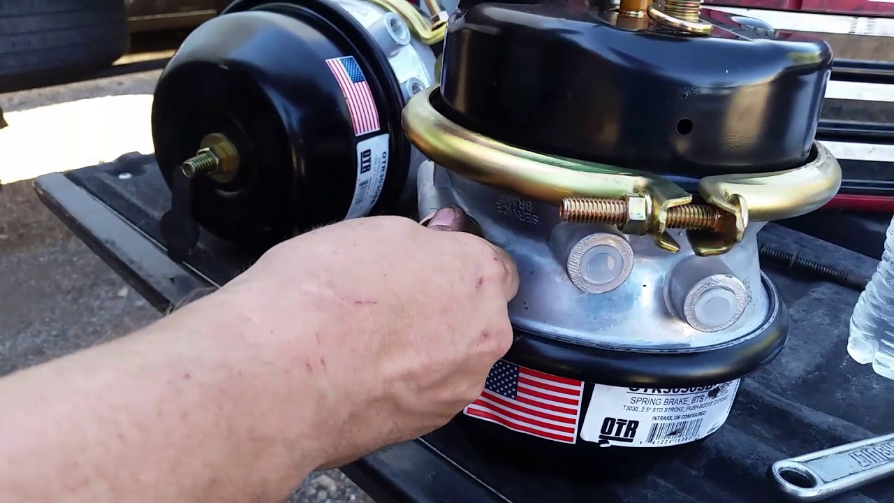 Brake chambers for dummies,tractor trailer brake Chambers easy way