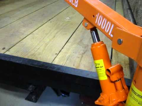 My cheap pickup truck crane (Under $100 harbor freight model 1647)