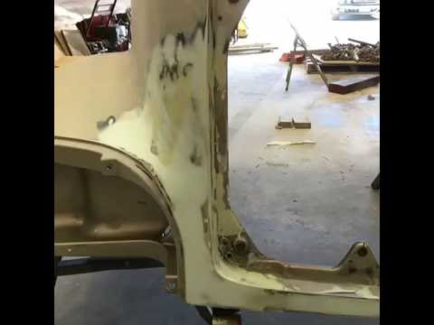 Fiberglass Semi Hood Repair