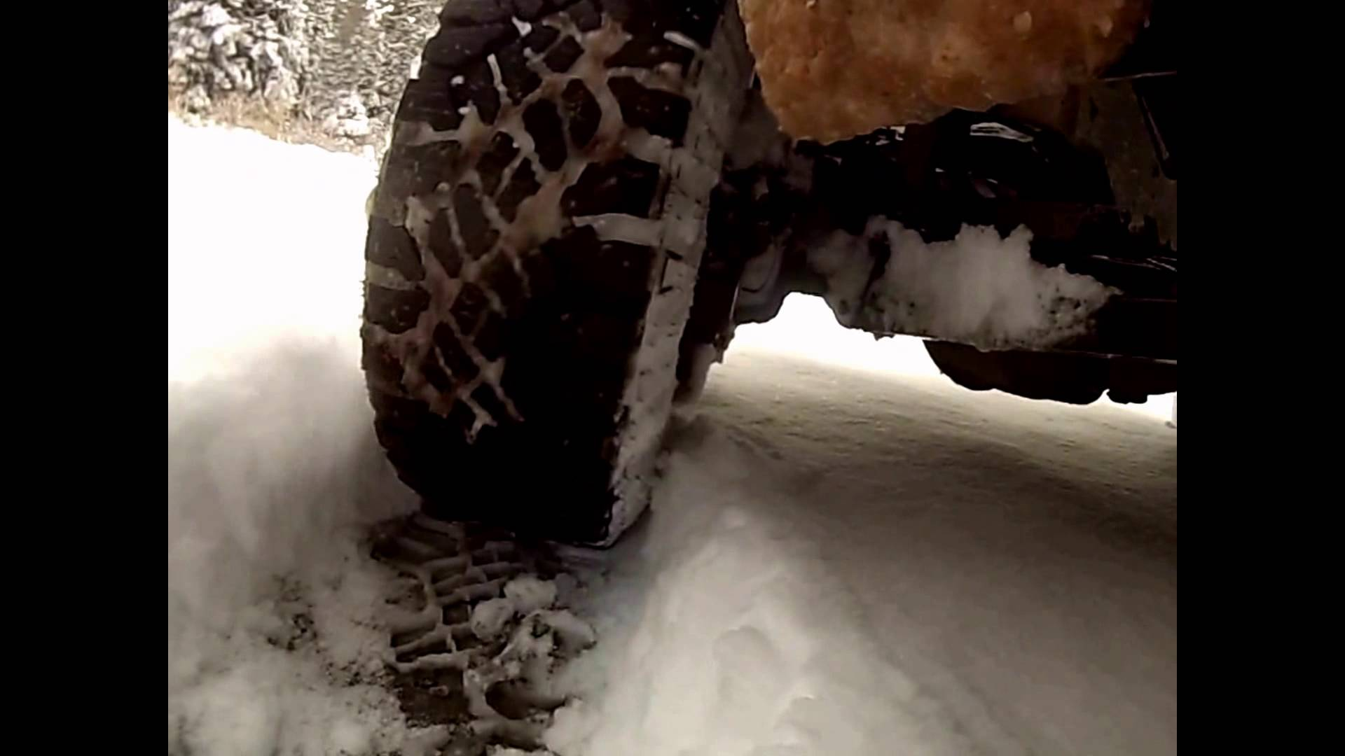 "GoodYear DuraTrac Wrangler Tire Review Testing 8"" Of Snow In 2WD! Tyers Start Stop Hill Ice Mud"