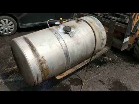 How to fix a dented truck fuel tank! No welding required!