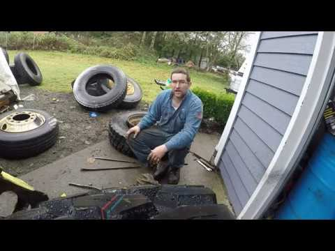 HOW TO MOUNT A SEMI TIRE IN UNDER 10 MINUTES!!!