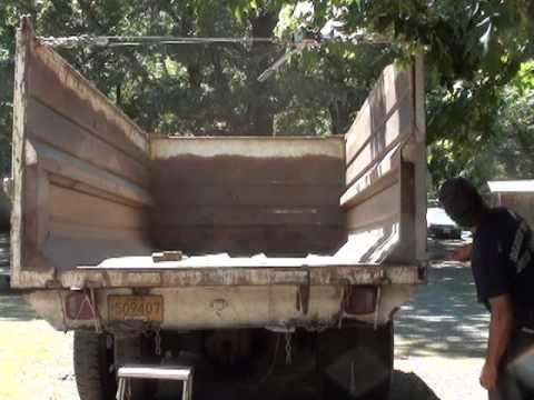 Part 1 1978 GMC 6000 Dump Truck Broken Bed Repair