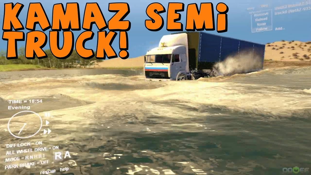 Spin Tires | Kamaz Semi Truck Off-Road Towing Test!