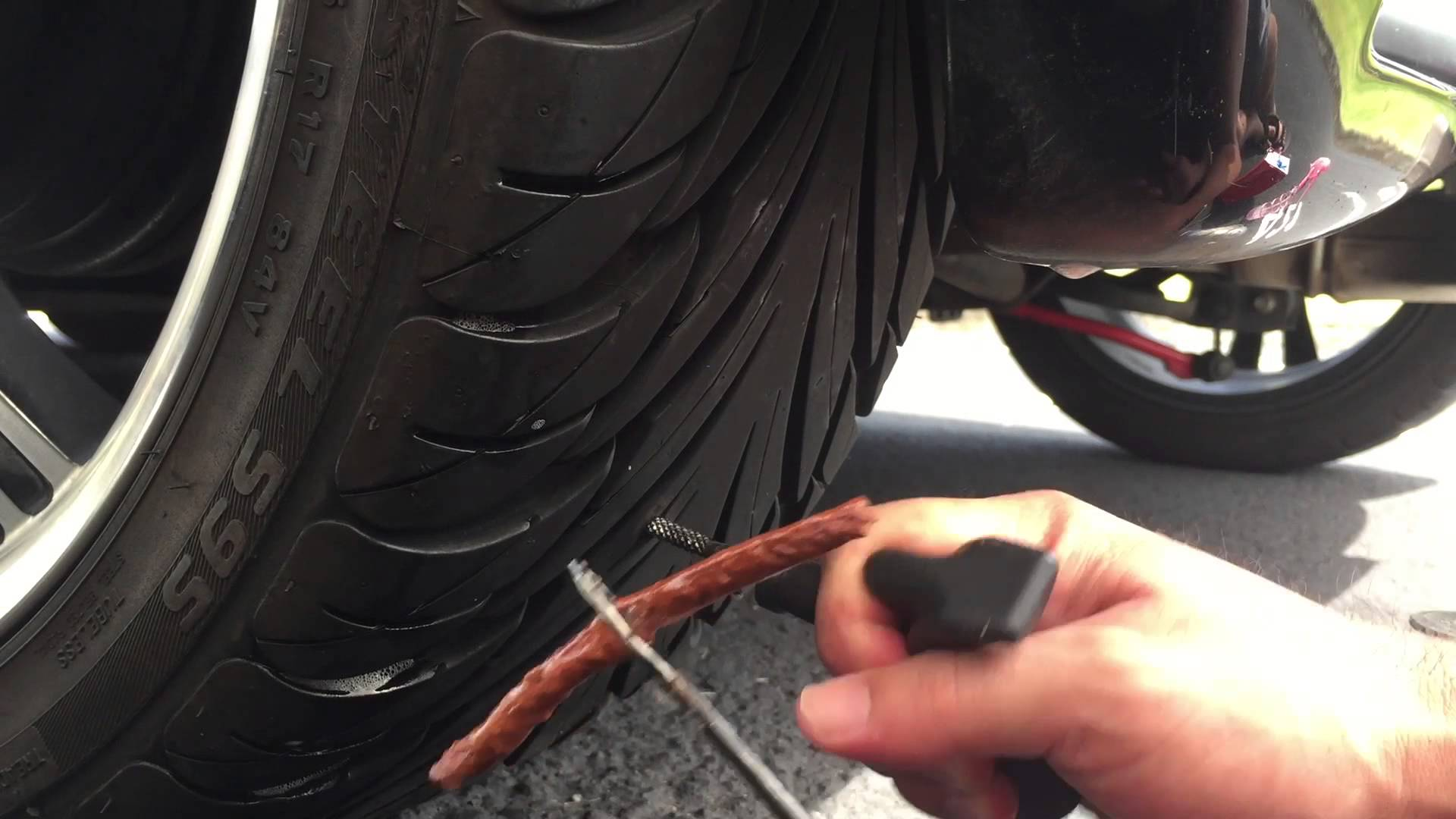 how to fix a flat with tire plug
