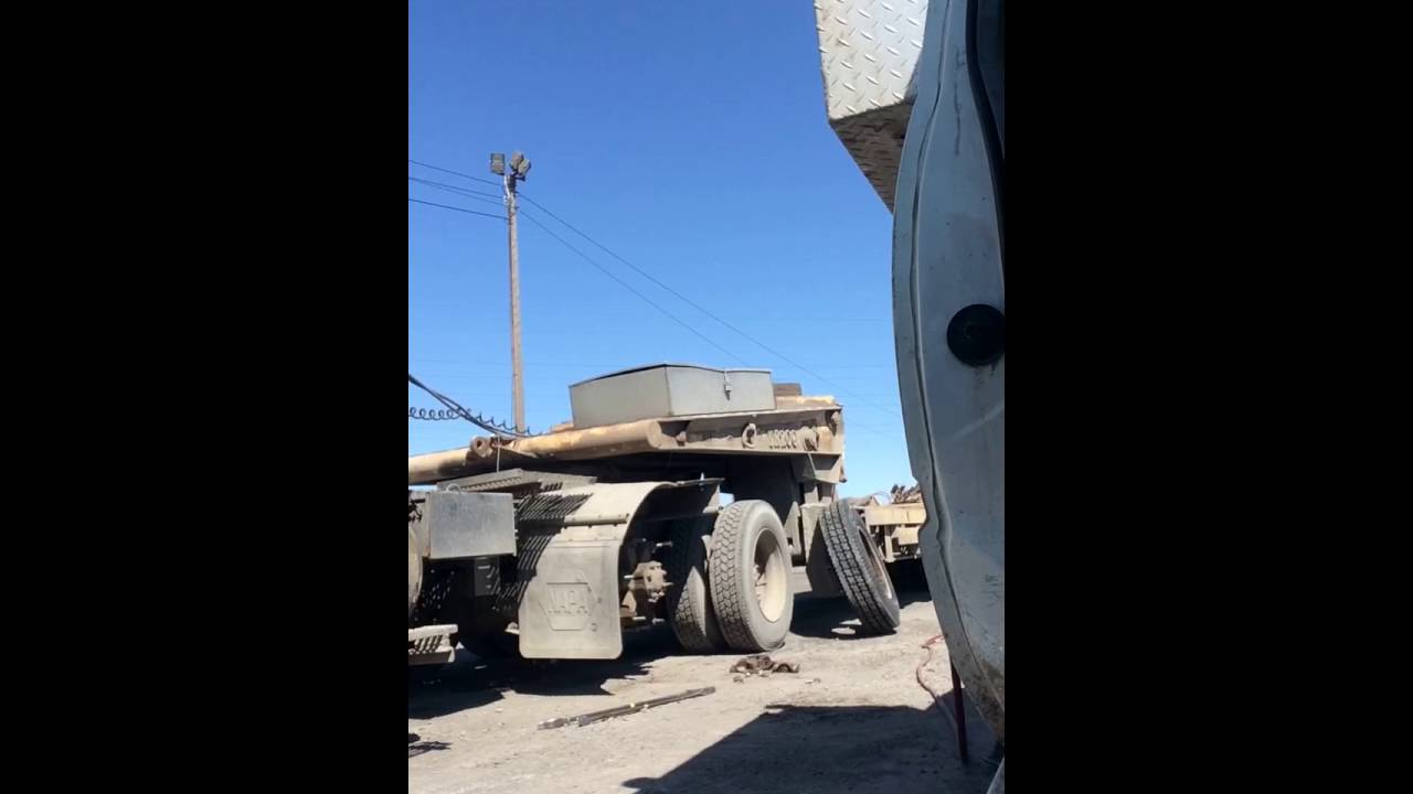 Changing semi truck tires time lapse
