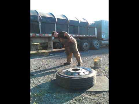 Semi tire bead breaking 101