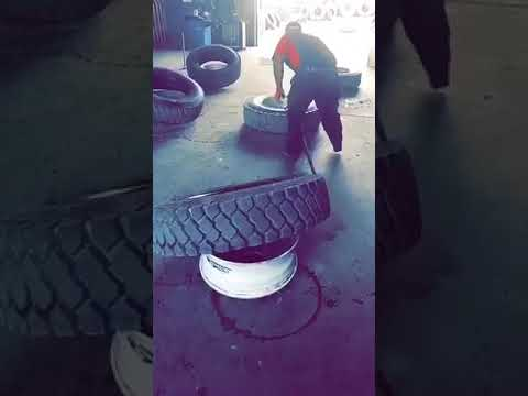 Speed Dismounting 8 Semi-Tires Under 2 Min