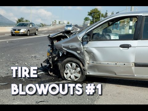 Tire Blowout Compilation #1 || EXPLODING TIRES!