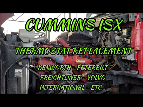 Cummins ISX thermostat removal replacement – Kansas City