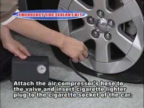 How to repair a flat tire without jack-up, Commercial
