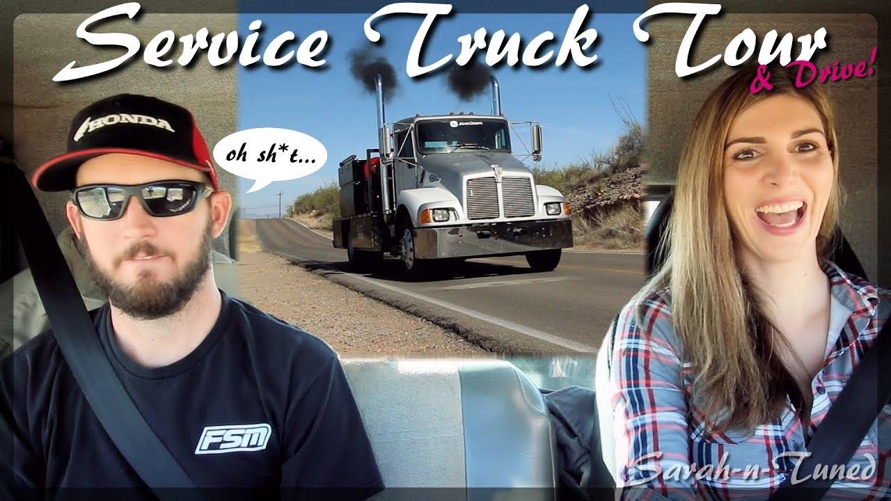 I Drove a Big Rig! // Service Truck Tour