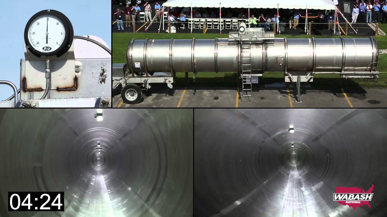 Controlled Demonstration of a Tank Trailer Vacuum Collapse by Wabash National