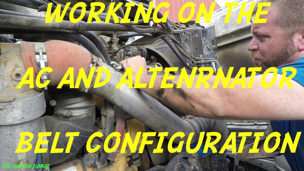 MORE TRUCK REPAIR AC AND ALTERNATOR BELT FIX