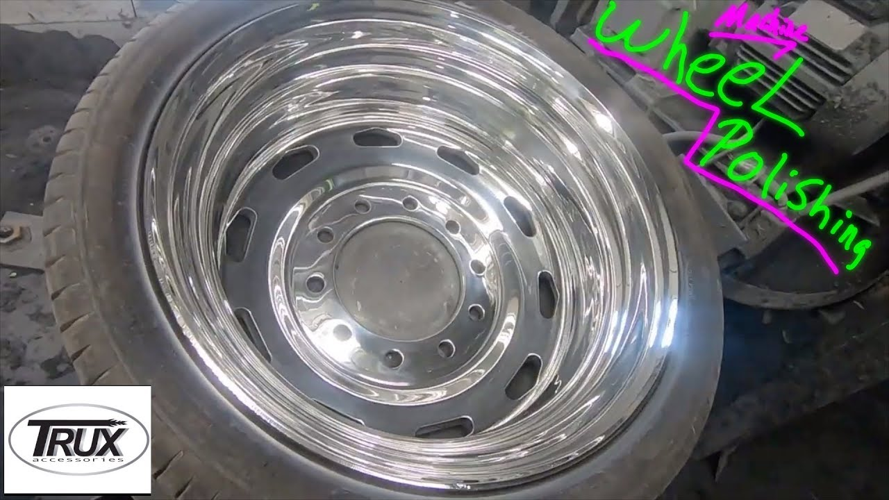 Polishing Custom Big Rig wheels! (McDonald Chrome Shop)