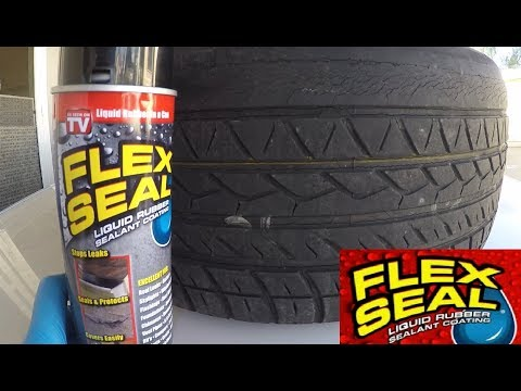 FLEX SEAL: Can it Fix FLAT Tire?