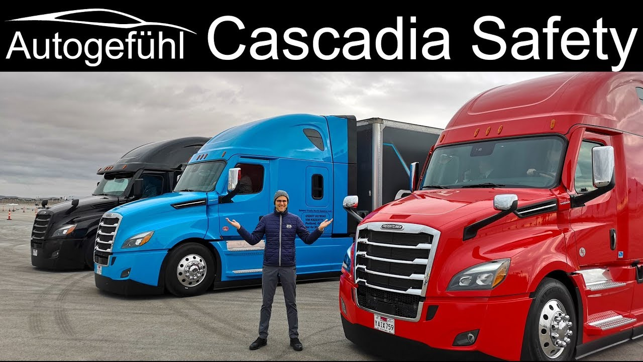 Semi Autonomous Truck drive with the new Freightliner Cascadia 5.0 Assistance Systems