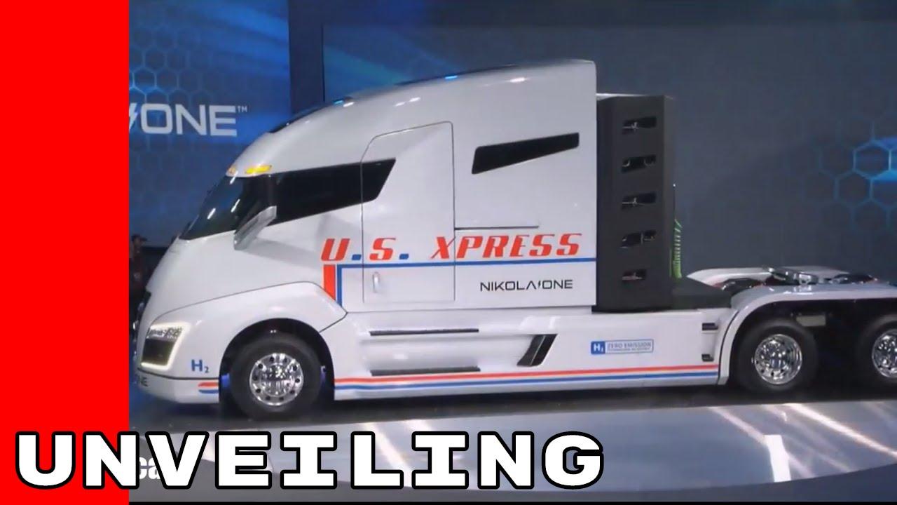 Nikola One Hydrogen Powered Semi Truck Unveiling