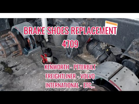 brake shoes 4709  replacement Freightliner Kenworth Volvo Peterbilt international brake adjustment