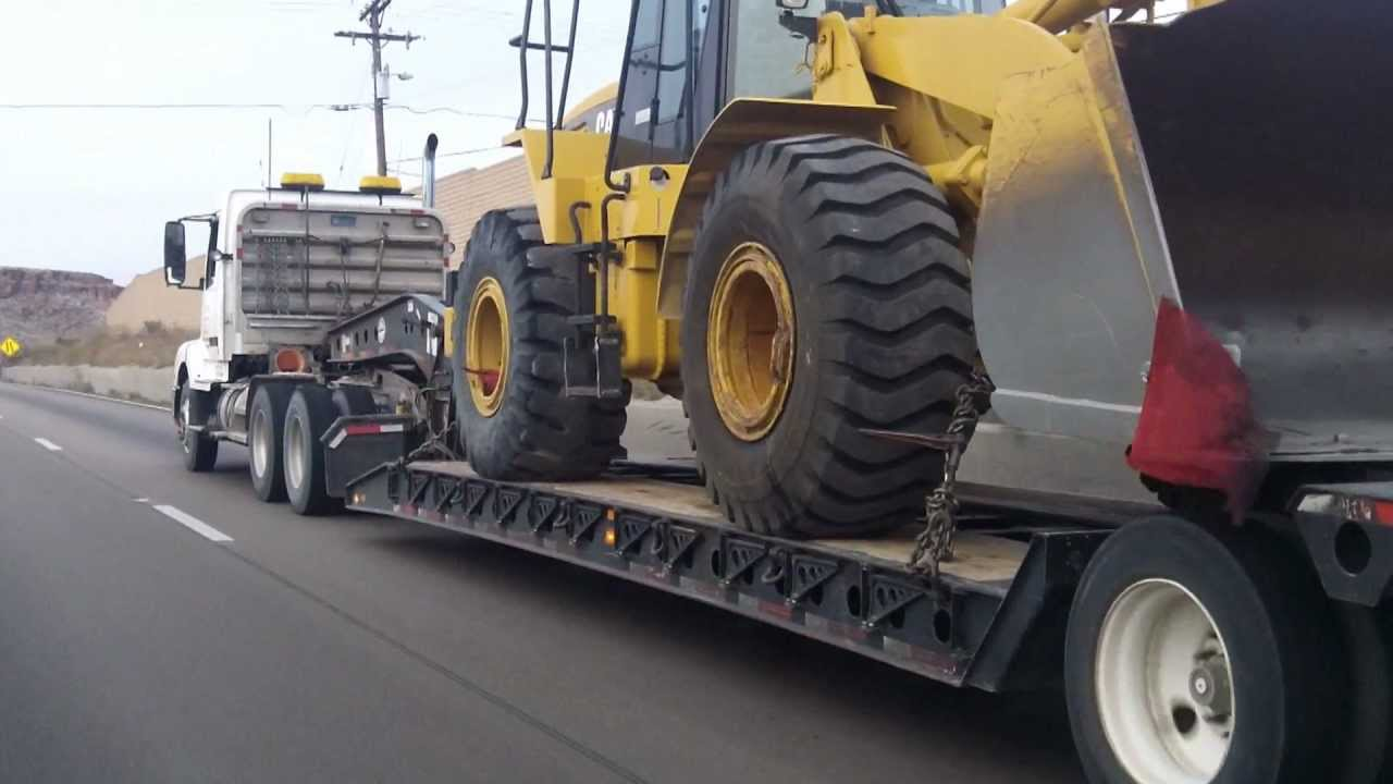 CAT 950G FRONT LOADER ~ Towed by Mertens Heavy Equipment Repair Truck