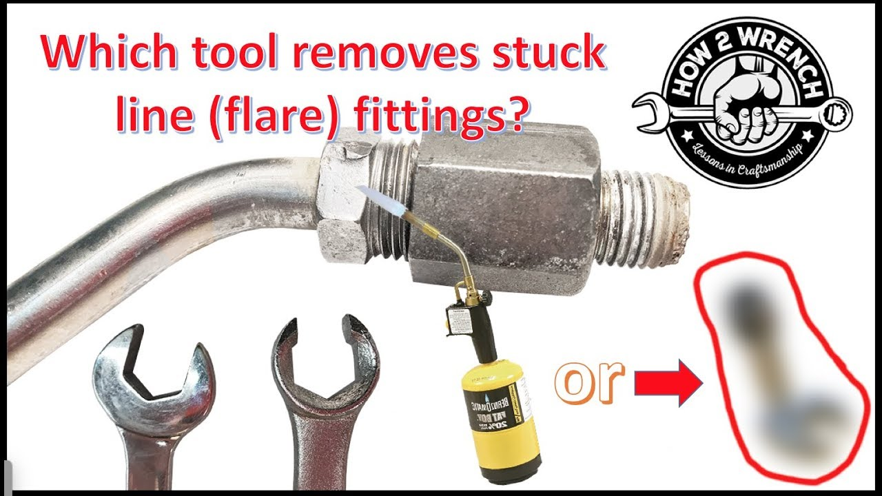 How to remove a stuck, rusty or damaged flare nut or line nut.