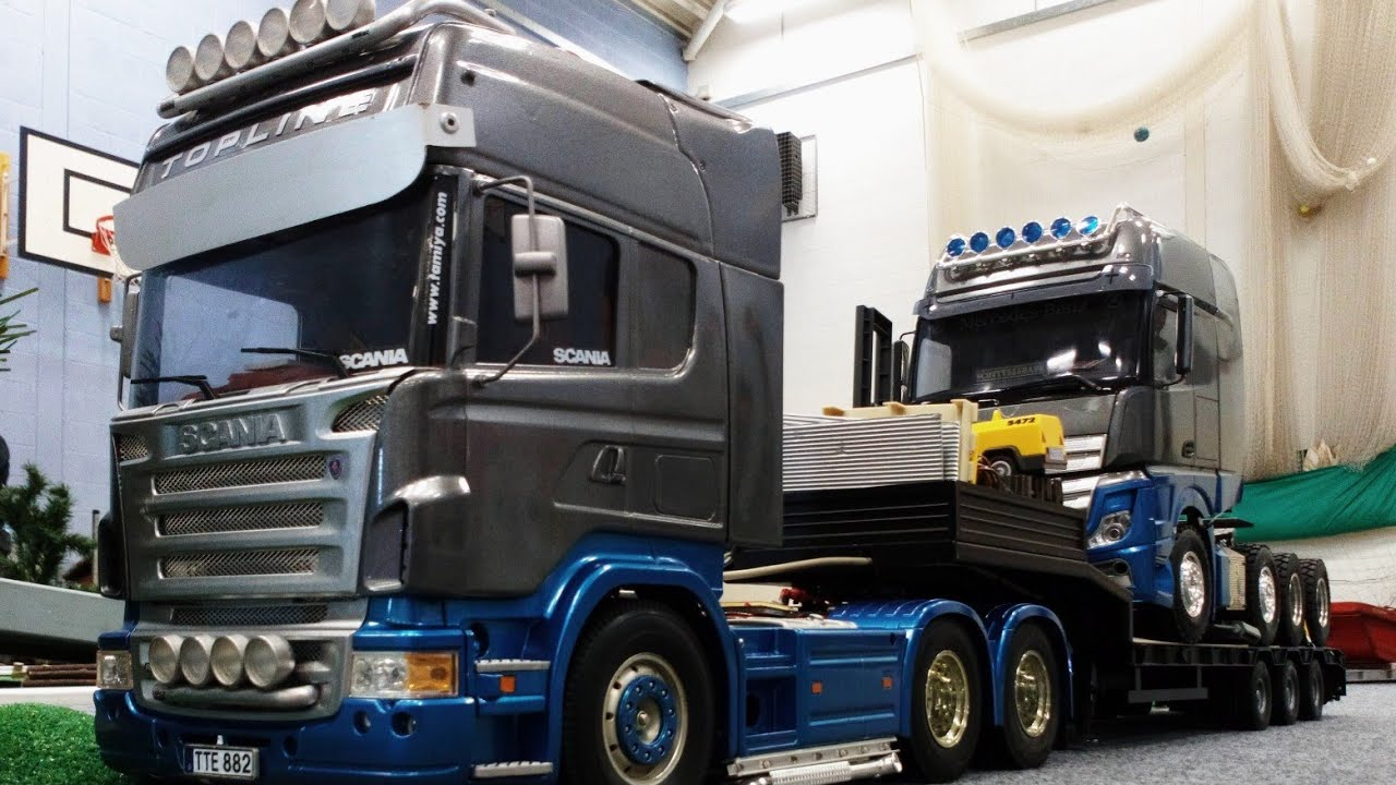 RC TRUCKS @ LEYLAND AUGUST 2018   Tamiya Rc semi truck action