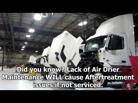 semi truck air dryer leak