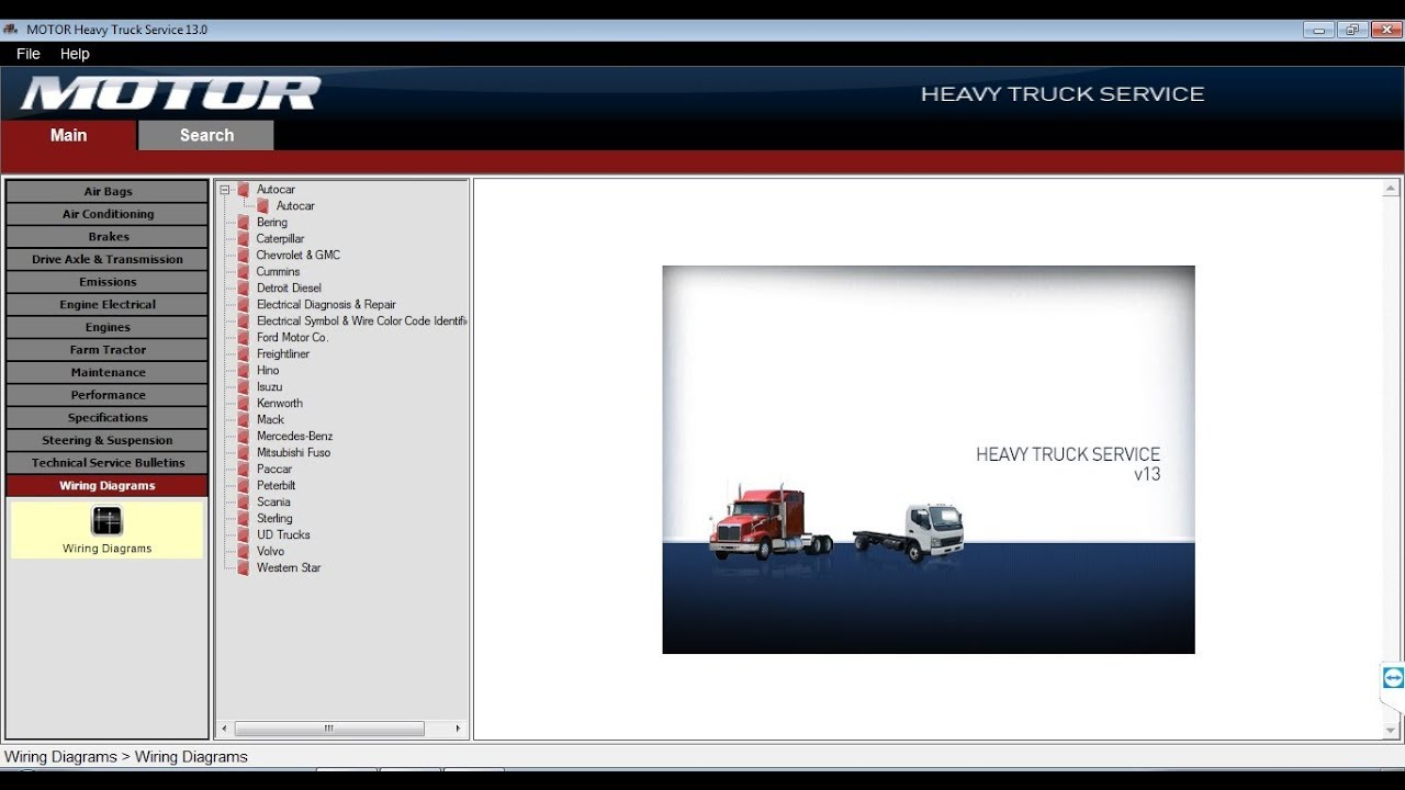 MOTOR HEAVY TRUCK Service v13 [2013] - All Heavy Trucks Wiring Diagrams Software