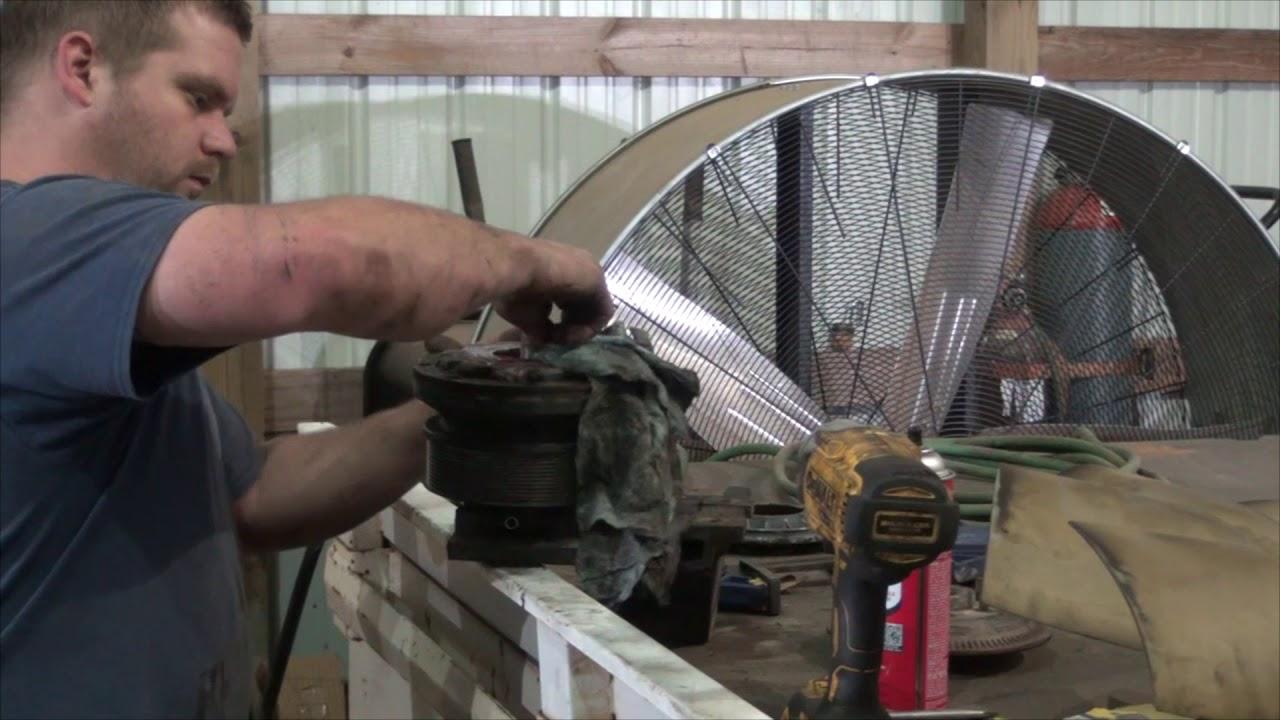 The horton fan clutch patch job Cummins ISX