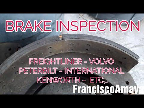 Brake inspection Freightliner Kenworth Volvo Peterbilt international