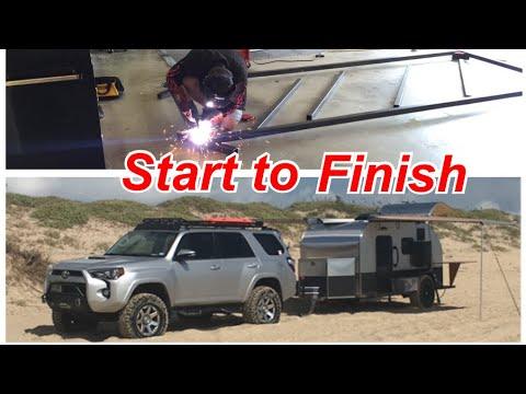 DIY off-road teardrop camper build in 15 minutes